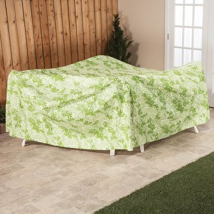 """Leaf Pattern Quilted Table Cover Oval, 108""""L x 30""""H x 84""""-367519"""