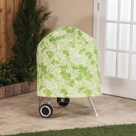 """Leaf Pattern Quilted Kettle Style Grill Cover, 23""""H x 27""""-367520"""