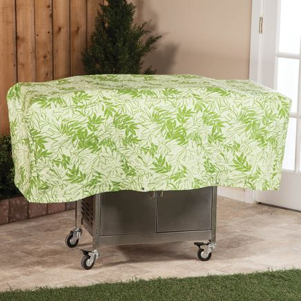 """Leaf Pattern Quilted BBQ Grill Cover, 54""""L x 18""""H x 22""""W-367521"""