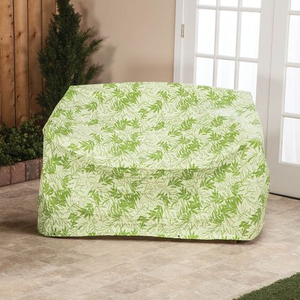 """Leaf Pattern Quilted Glider Cover, 78""""L x 33""""H x 37""""W-367523"""
