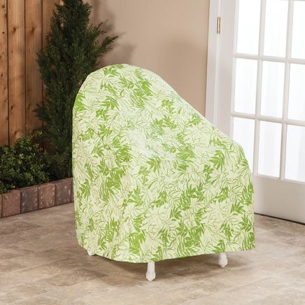 """Leaf Pattern Quilted Chair Cover, 33""""L x 33""""H x 27""""W-367527"""