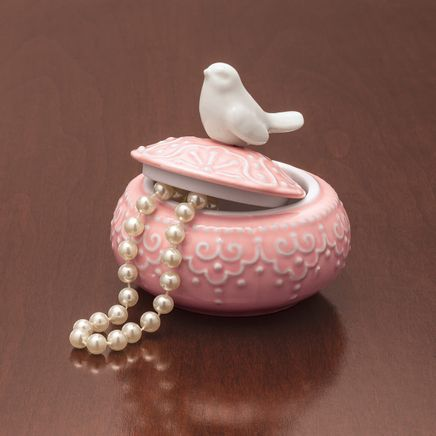 Ceramic Bird Trinket Box-367565