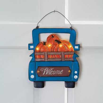 Harvest Blue Truck Welcome Sign by Fox River Creations™-367586