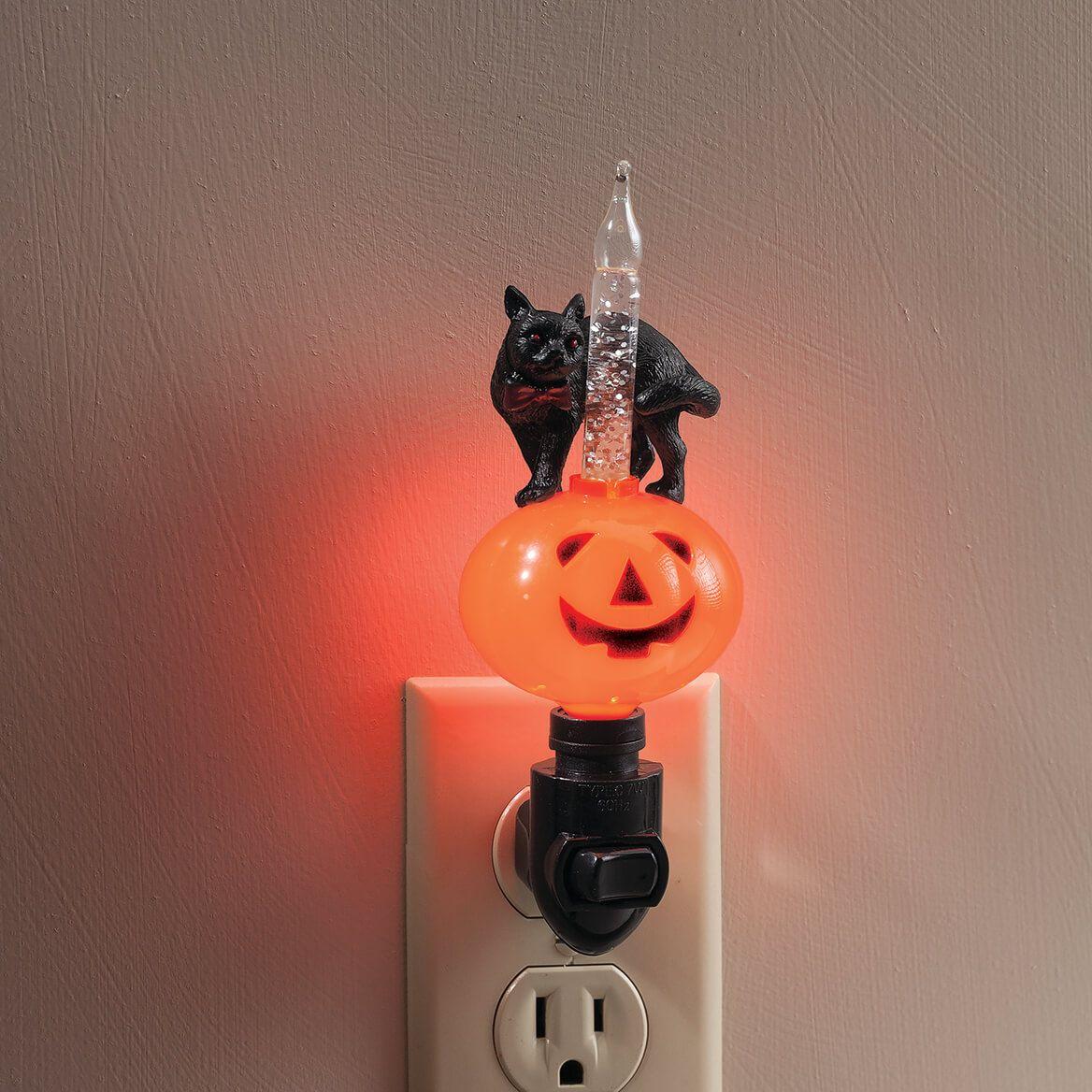 Black Cat & Jack-O-Lantern Bubble Night Light-367601