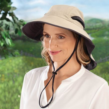 Sun Hat with Neck Guard-367673