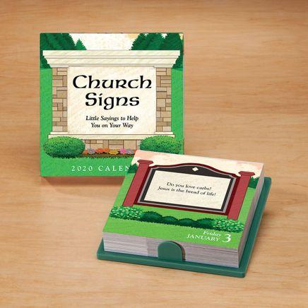 Church Signs Desk Calendar-367700