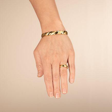 Magnetic Swirl Bracelet and Ring Set-367965