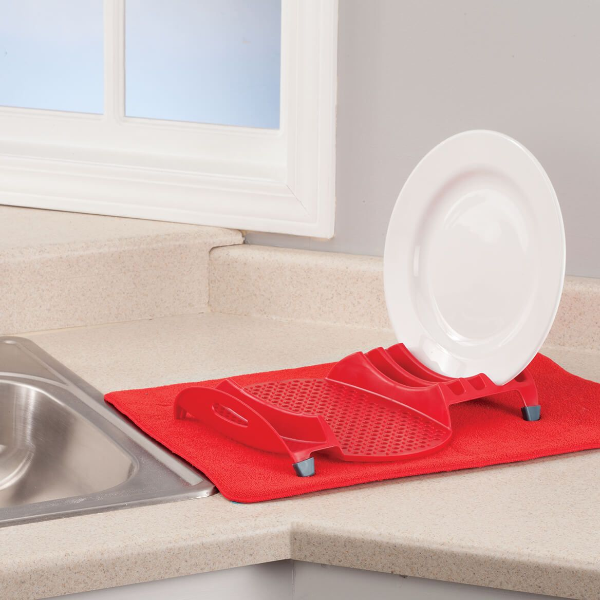 2 Piece Dish Rack with Drying Mat by Chef's Pride-368090