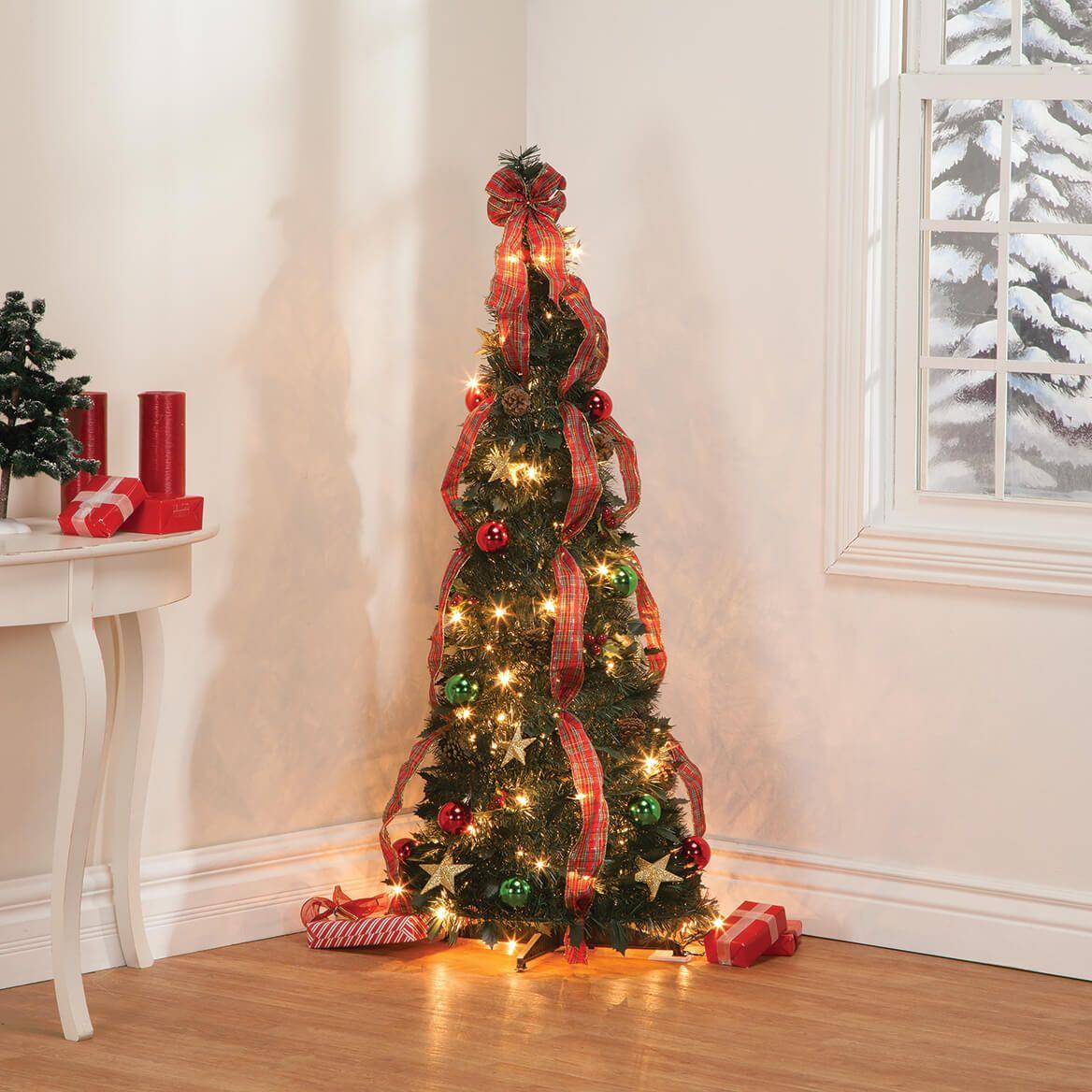 4' Plaid Pull-Up Tree by Holiday Peak™-368142