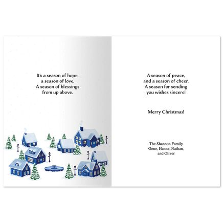 Personalized Peaceful Village Christmas Card Set of 20-368243