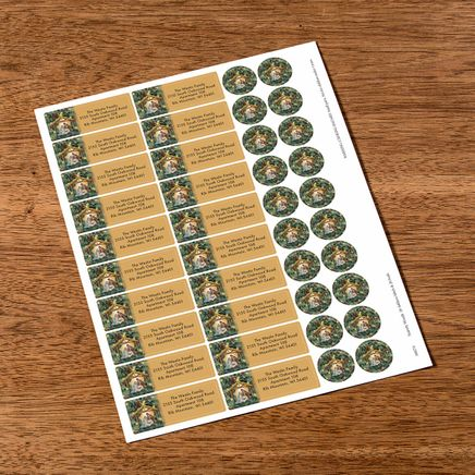 Personalized Nativity Wreath Labels & Seals 20-368274