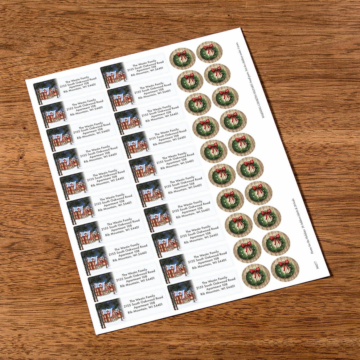 Personalized Home for the Holidays Labels & Envelope Seals 20-368277