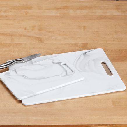 2-Pc. Faux Marble Melamine Cutting Board Set-368691