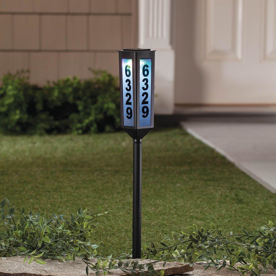 Color-Changing Solar Address Light-368710