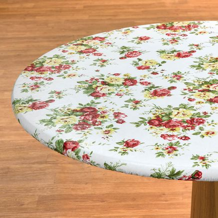 Country Rose Elasticized Vinyl Table Cover by Chef's Pride-368835