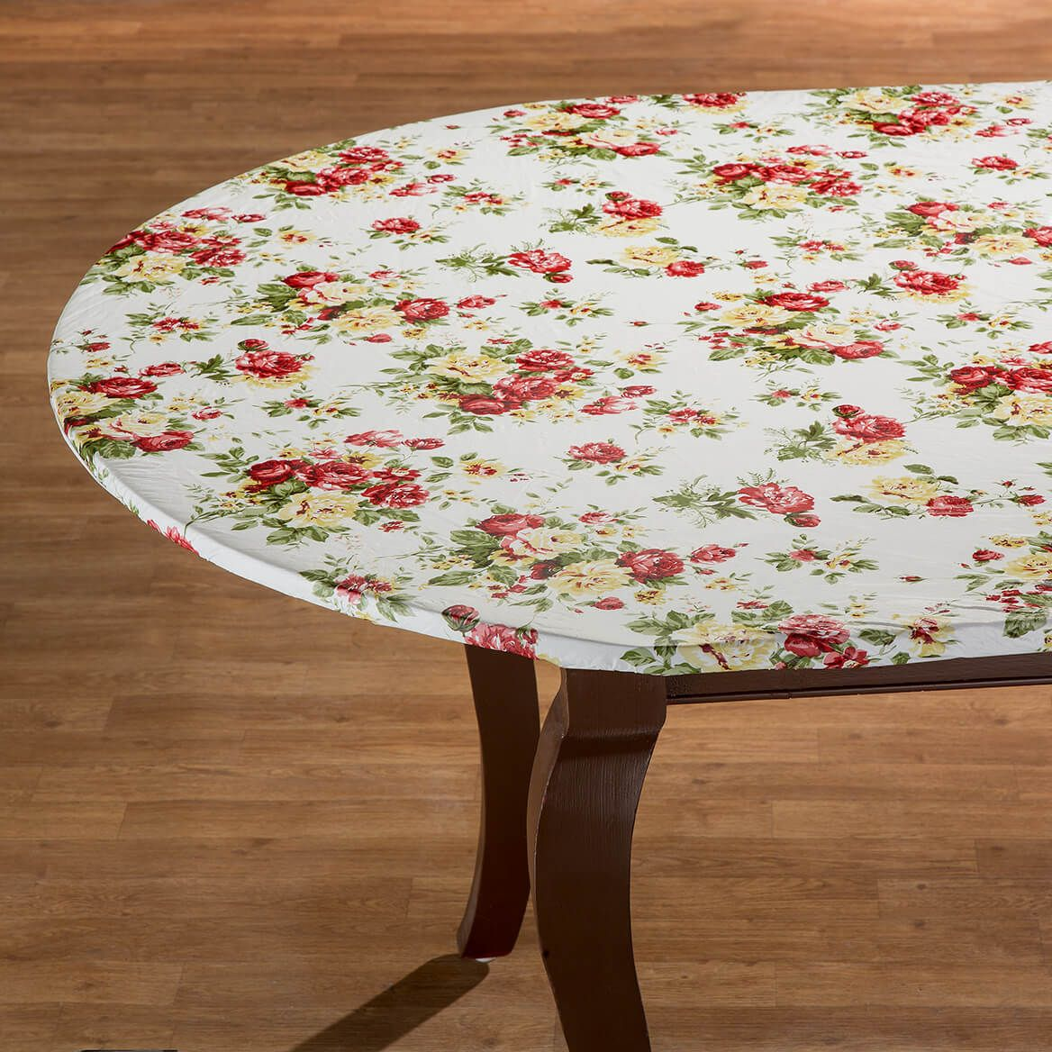 Country Rose Elasctized Vinyl Table Cover by Chef's Pride-368835