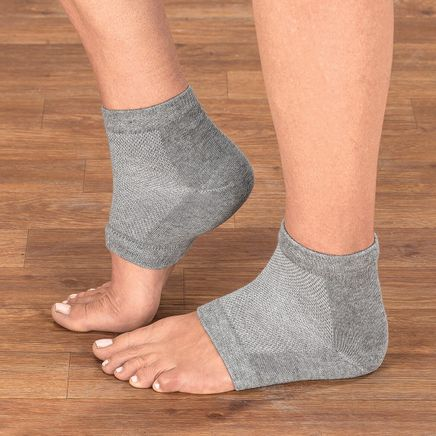 Silver Steps™ Gel Heel Socks-368877