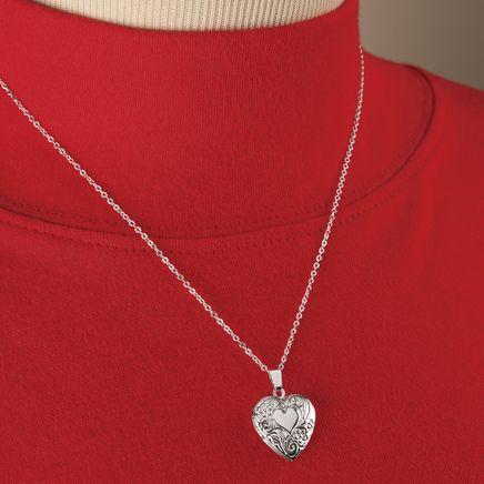 Silver Heart-Shaped Locket-368904