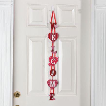 Welcome Valentine's Day Door Hanger by Holiday Peak™-369007