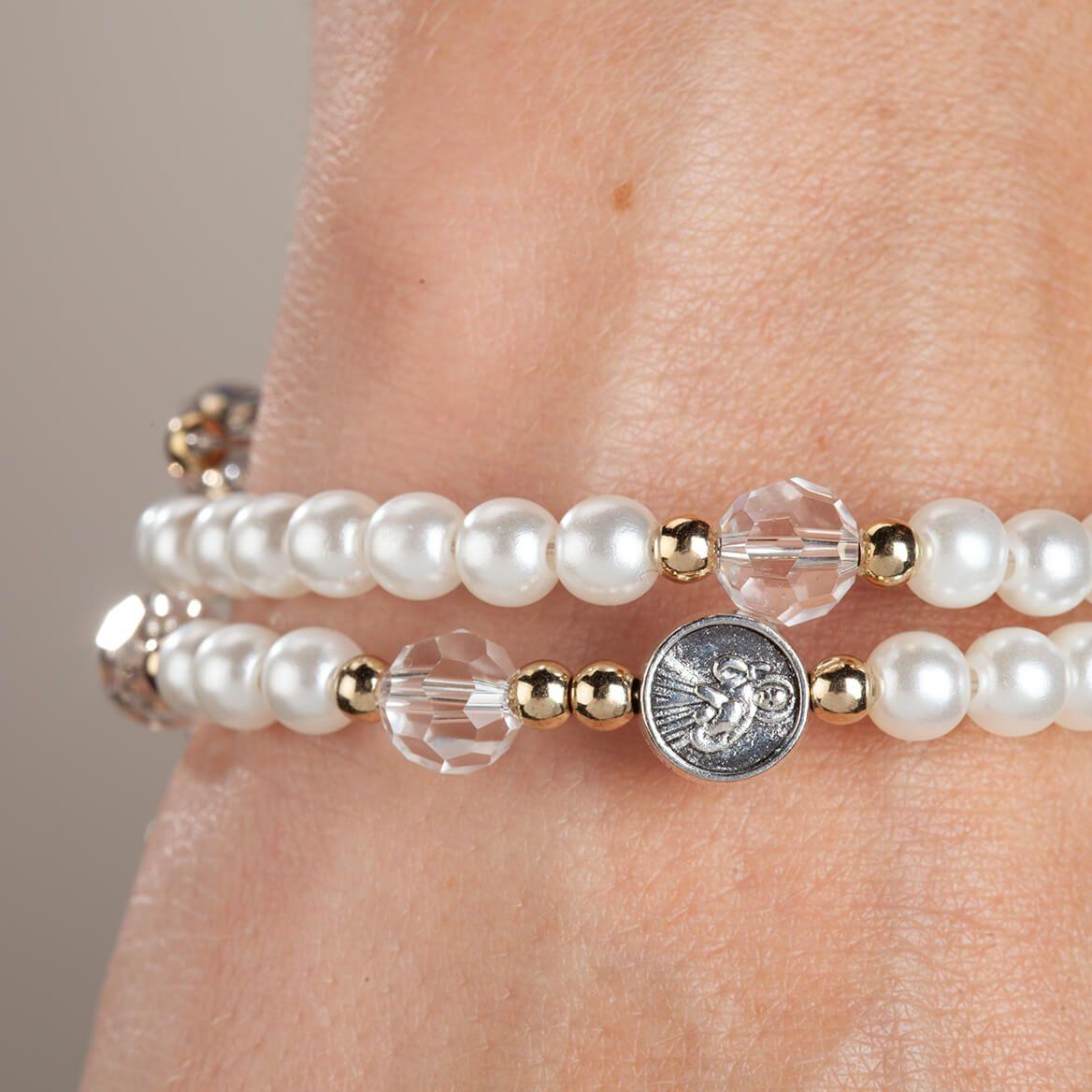 Rosary Beaded Wrap Bracelet-369077