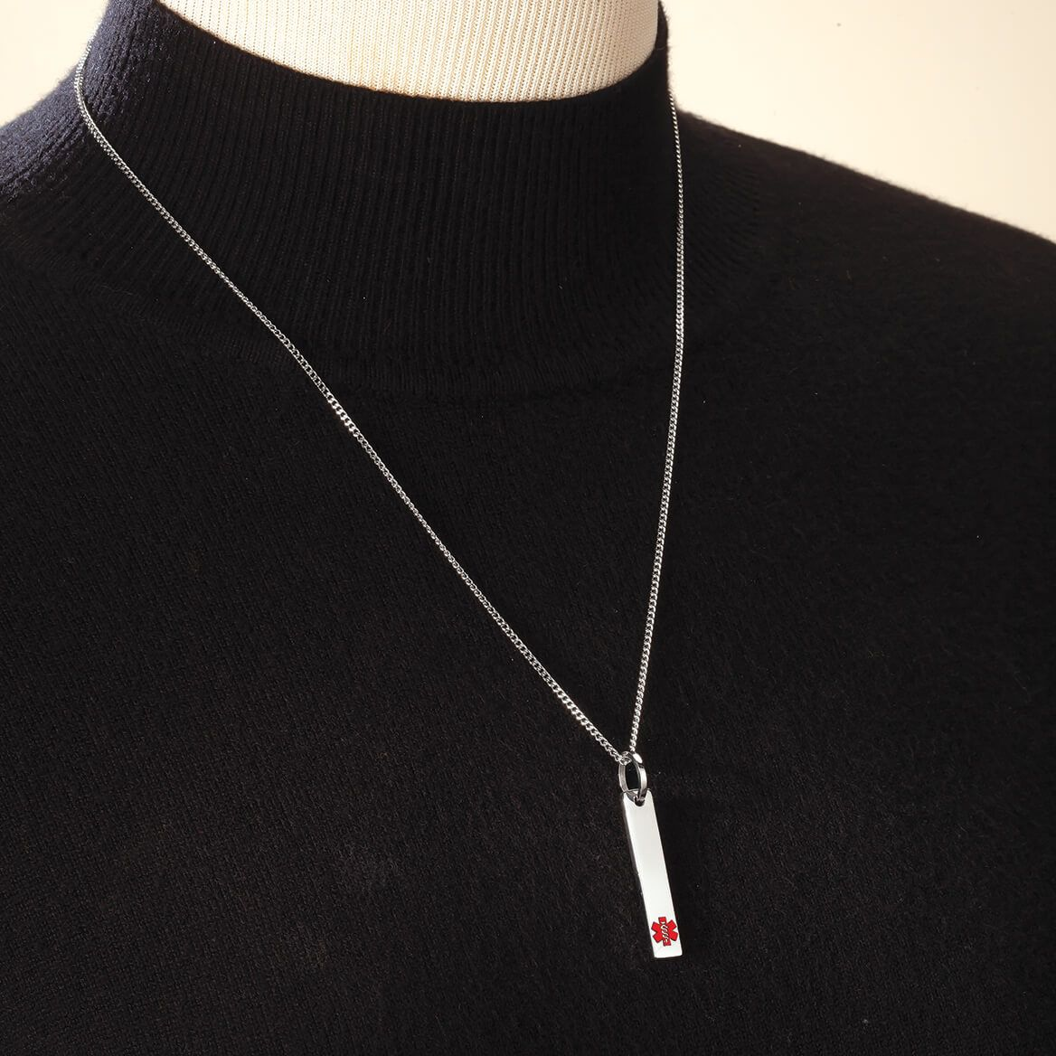 Personalized Medical ID Bar Necklace-369372