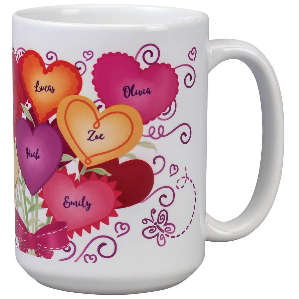 Personalized M.O.M. Heart Bouquet Mug-369377