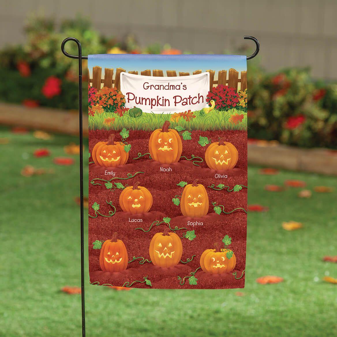 Personalized Pumpkin Patch Garden Flag-369484
