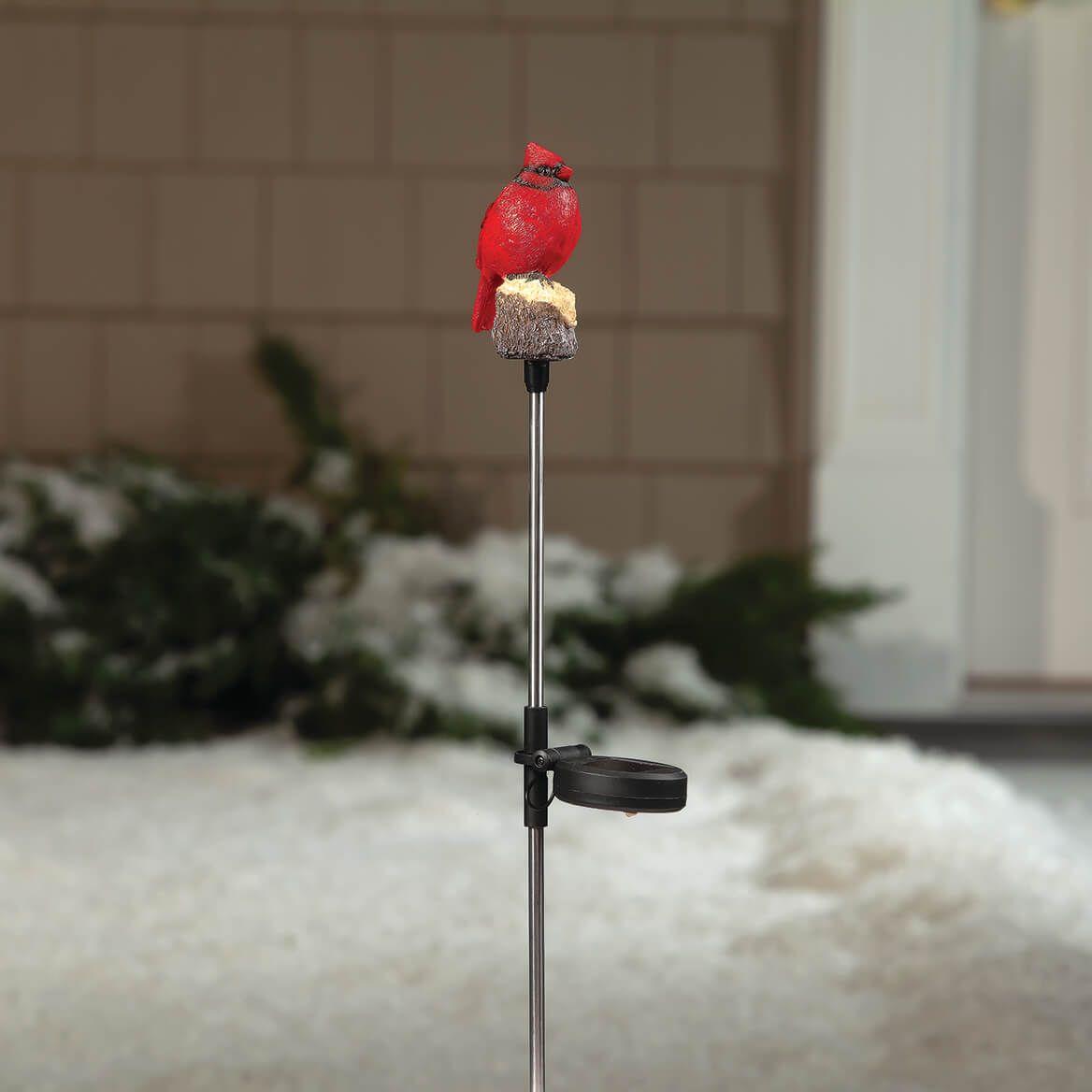 Red Solar Cardinal Yard Stake-369541