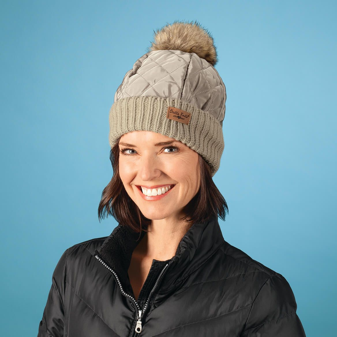 Britt's Knits ™ Quilted Puffer Hat-370563