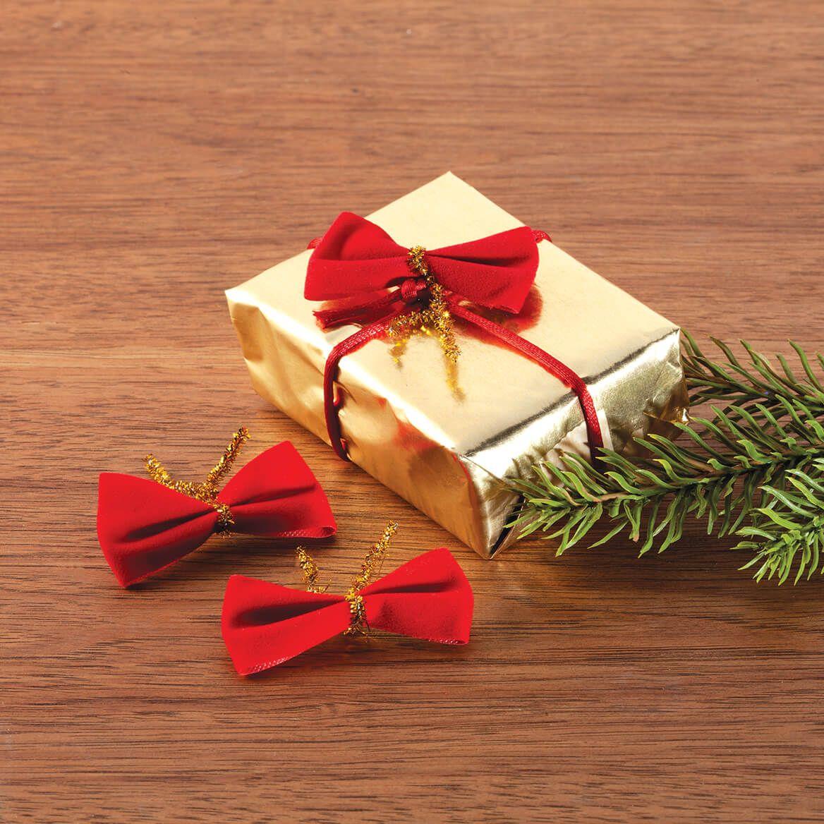 Mini Velvet Christmas Bows, Set of 18-370668