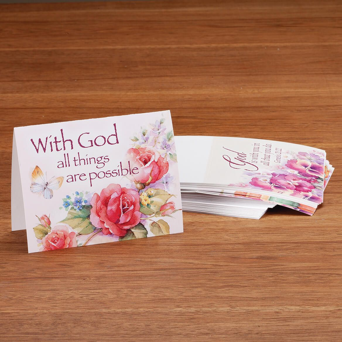 Religious Floral Note Cards Set of 20-370695