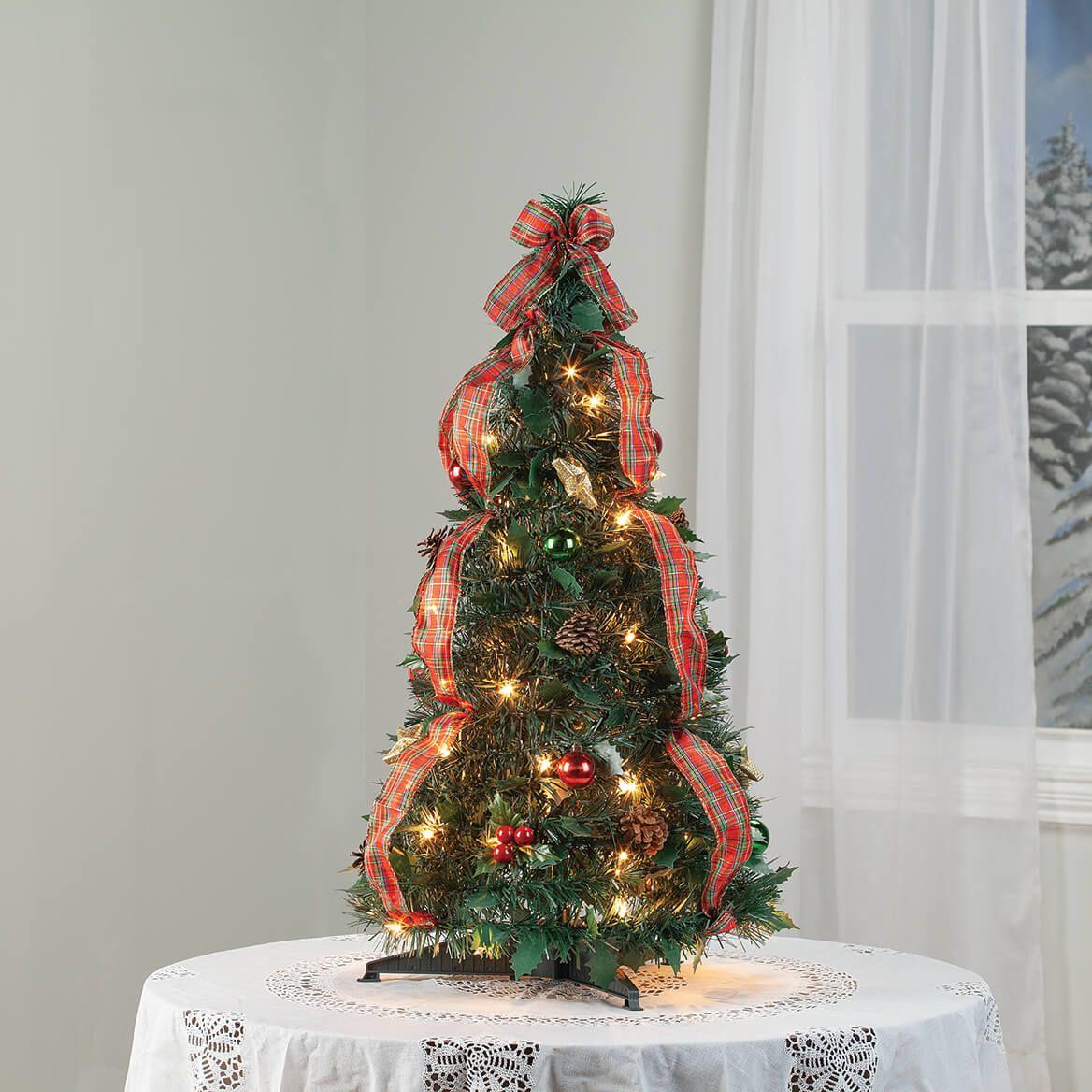 3' Plaid Pull-Up Tree by Holiday Peak™-370702