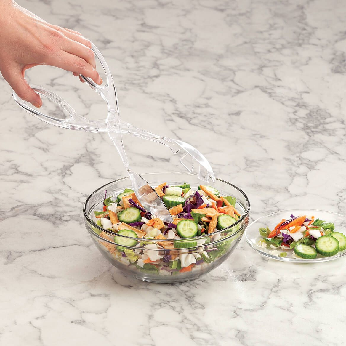 Acrylic Salad Tongs-370753