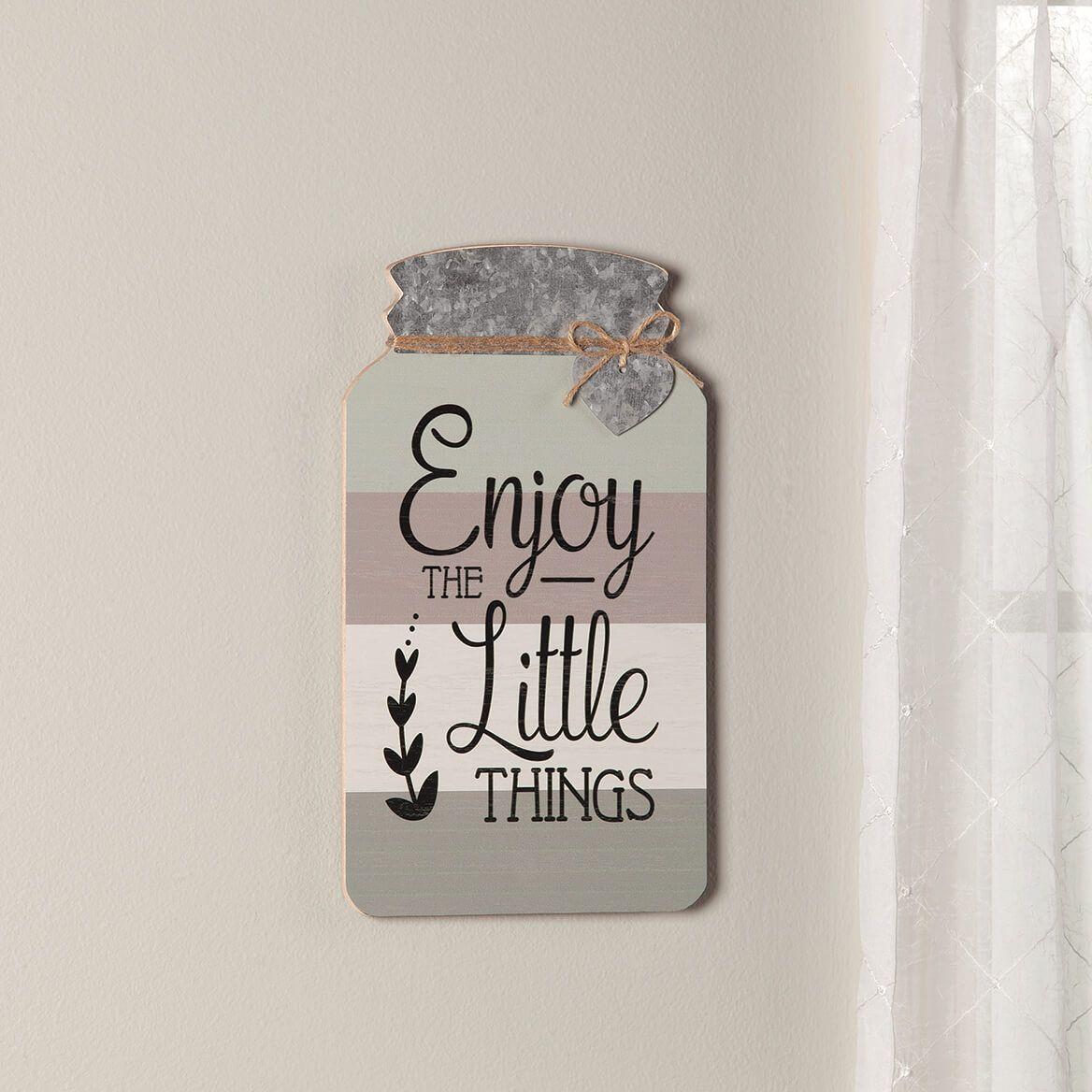 Mason Jar Little Things Wall Decor-371186