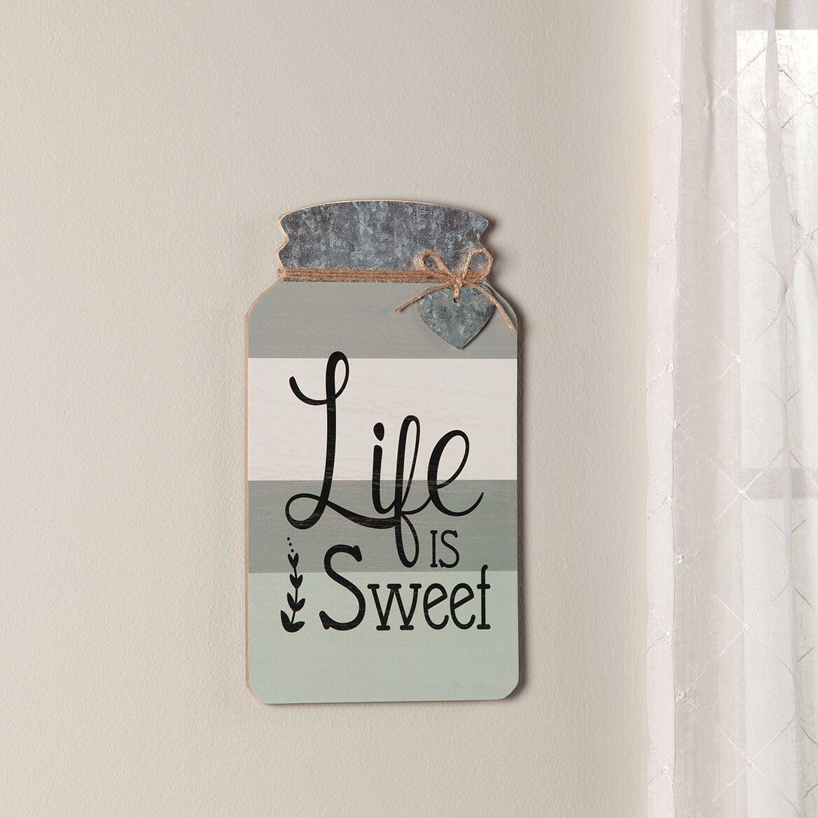 Mason Jar Life is Sweet Wall Decor-371187