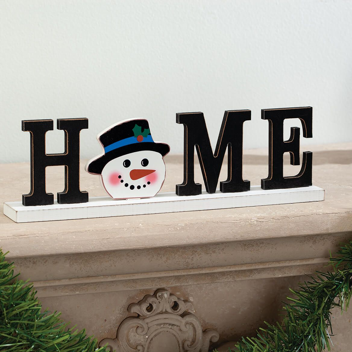 """""""HOME"""" Holiday Sign with Interchangeable Icons-371318"""