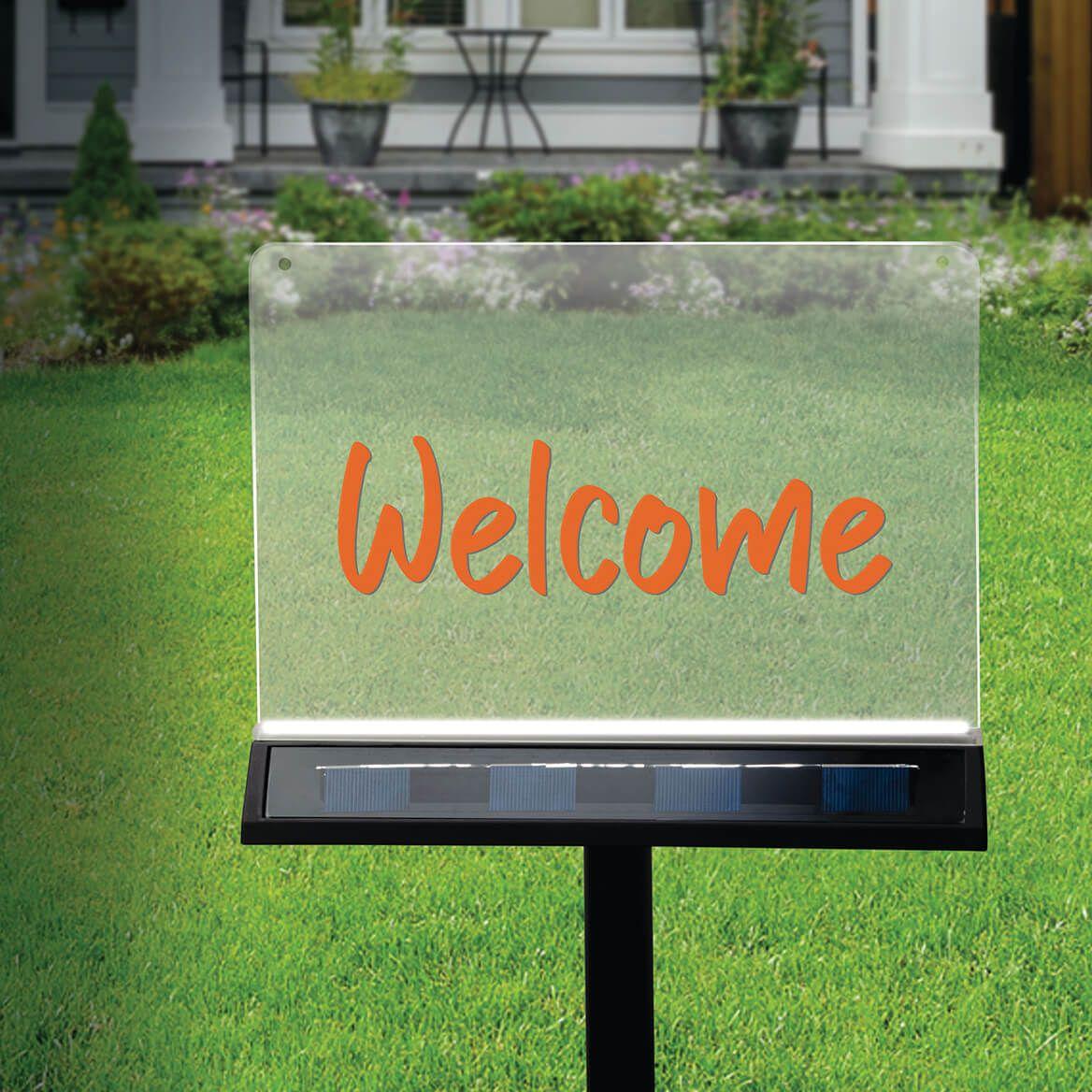 Write-On Solar Garden Sign-371493