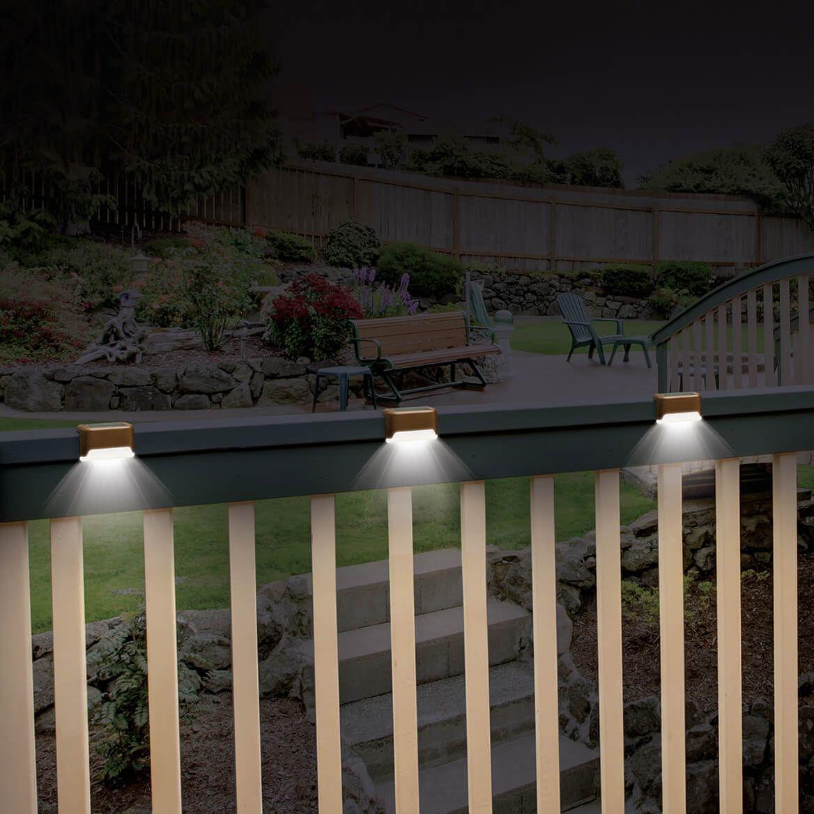 Solar Deck Lights, Set of 3-371509