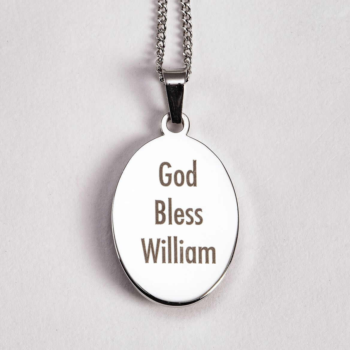 Personalized St. Christopher Medallion Necklace-371579