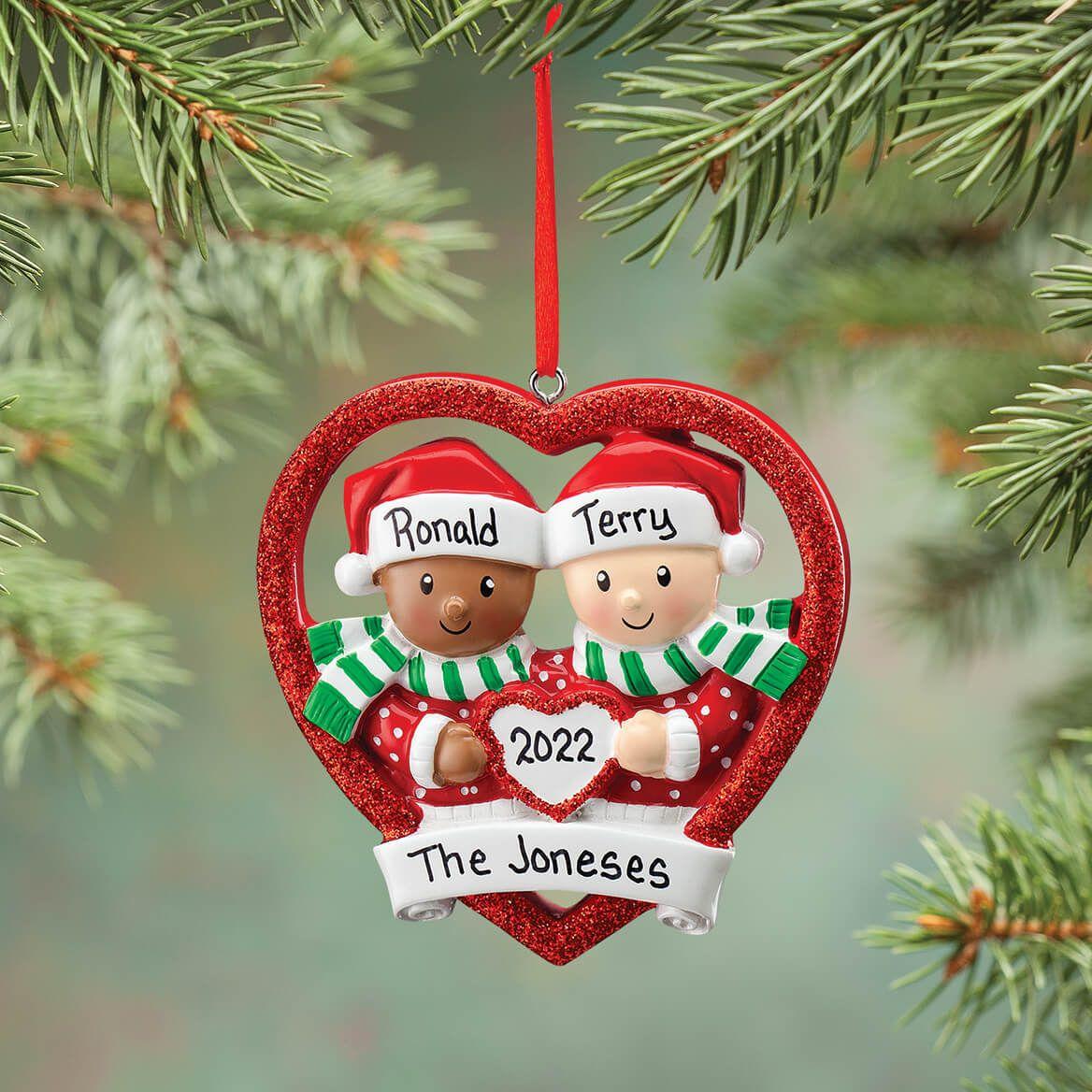 Personalized Biracial Couple Ornament-371678