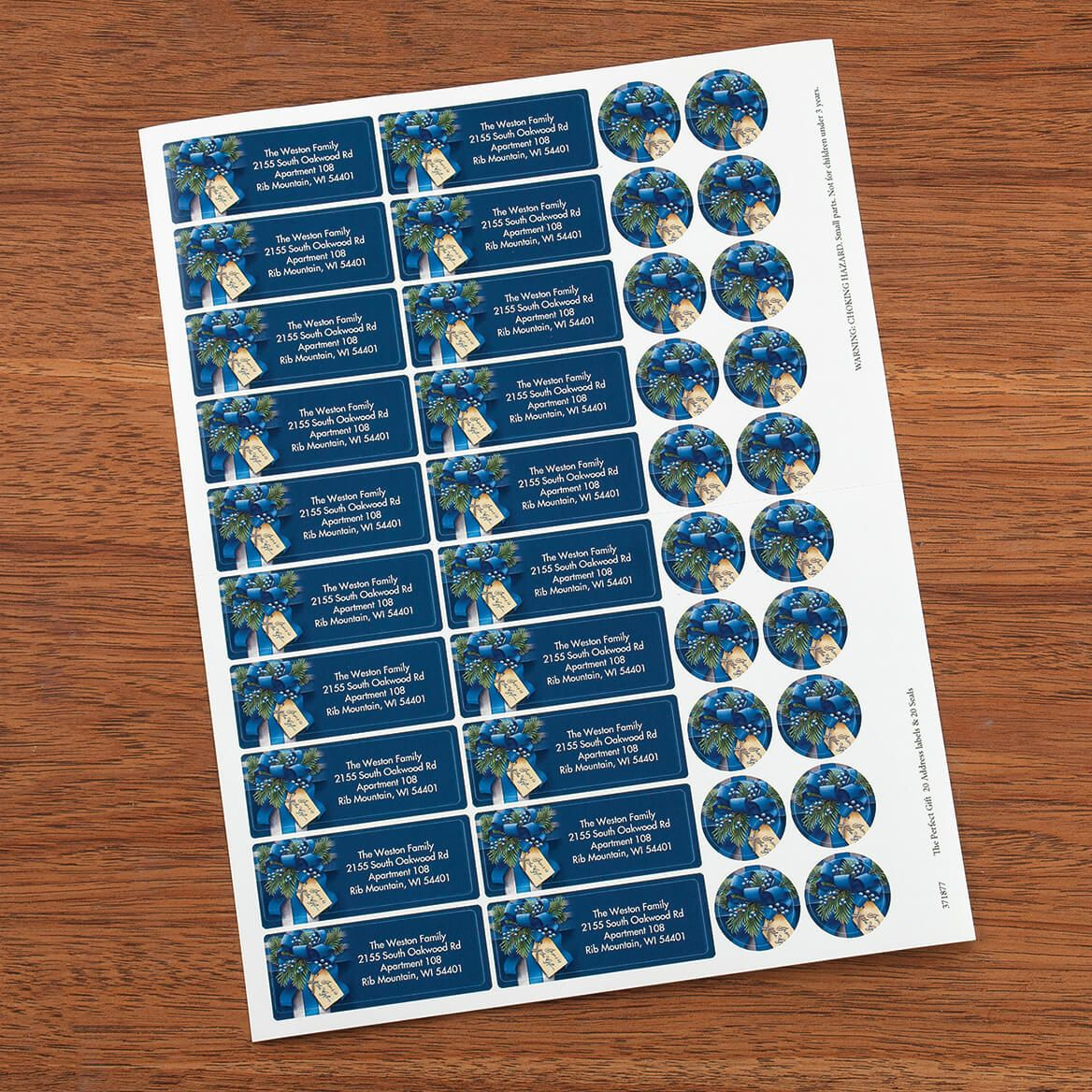The Perfect Gift Address labels and seals-371877