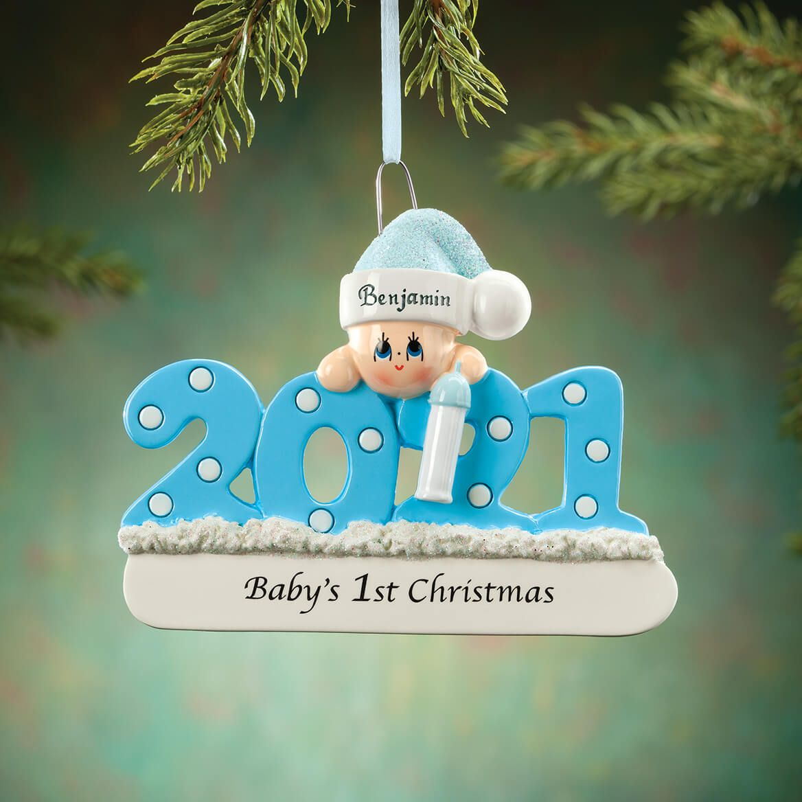 Personalized 2021 Baby's First Christmas Ornament-371945