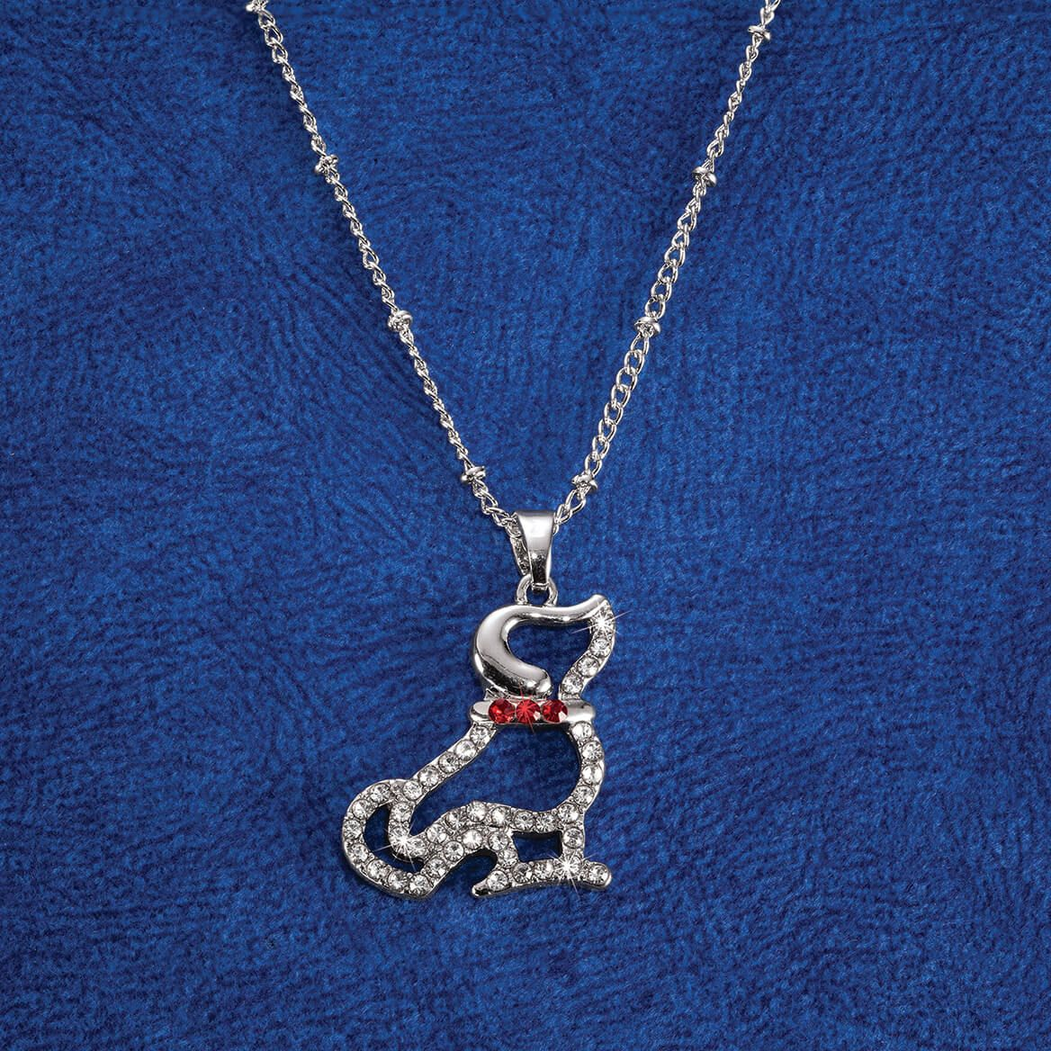 Crystal Dog Pendant-371965