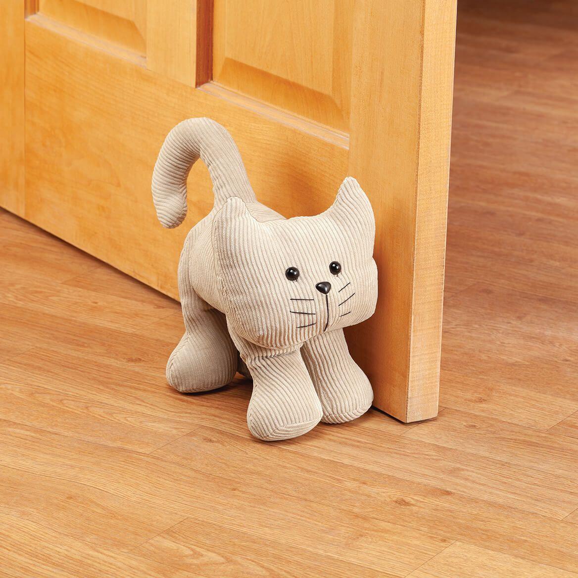 Corduroy Cat Door Stopper-371990