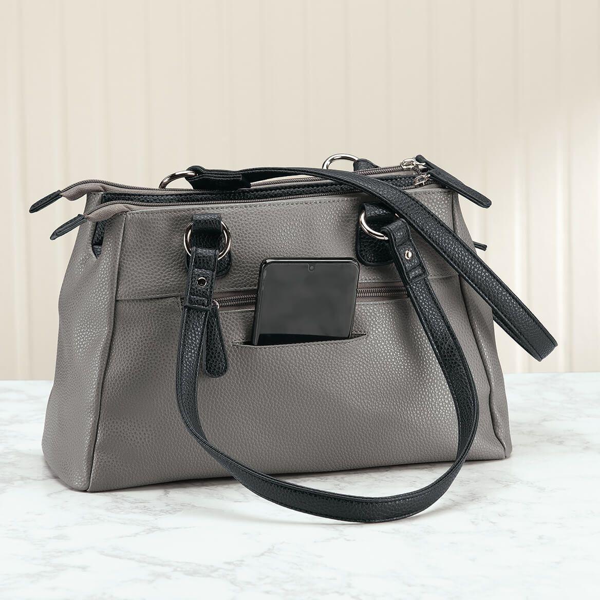 B. Amici™ Nicole RFID Greenwich Multi Pocket Leather Satchel-372212