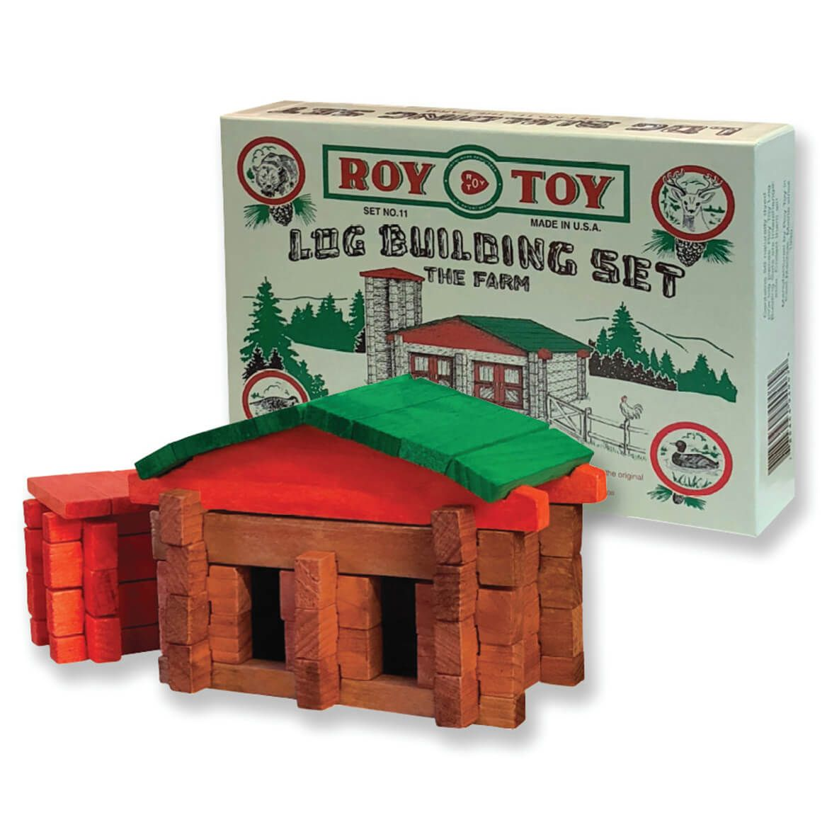 Roy Toy Log Building Set – The Farm-372315
