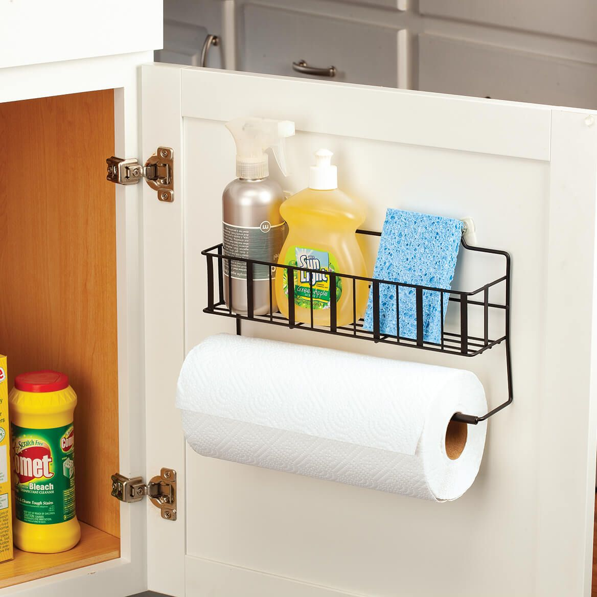 Paper Towel Holder with Shelf by Home Marketplace™-372352