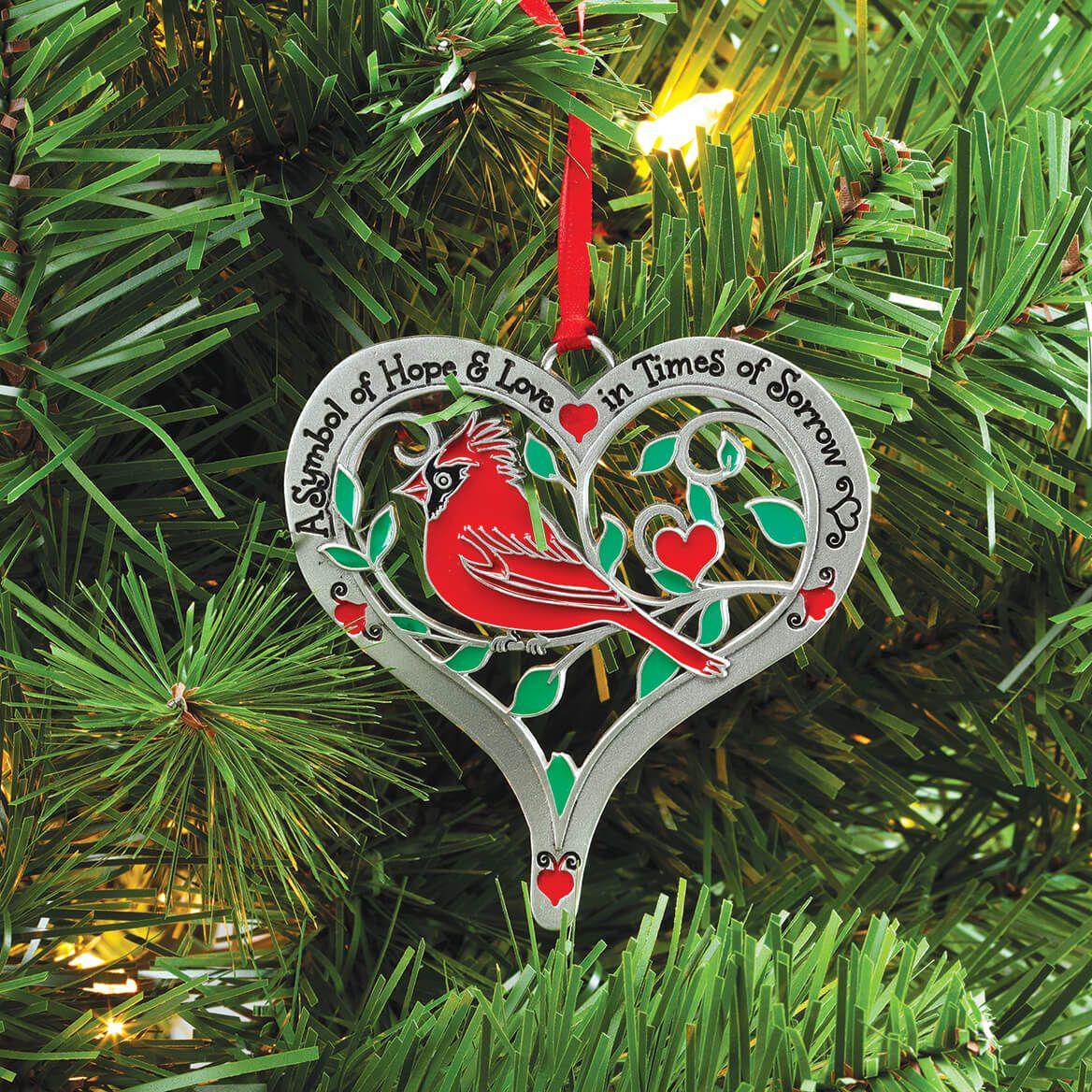 Pewter Cardinal Memorial Ornament-372370