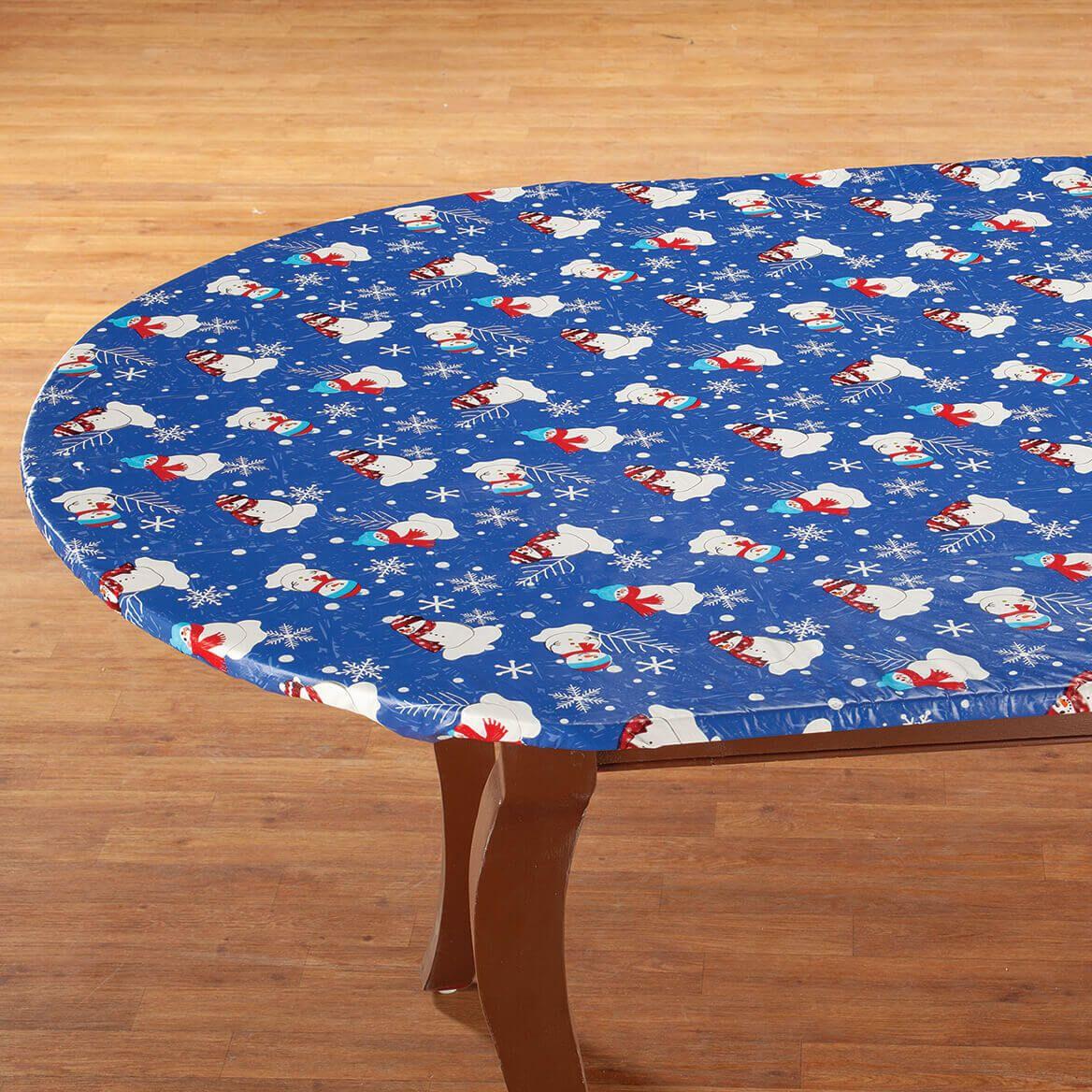 Snowman Fun Elasticized Table Cover by Chef's Pride™-372387