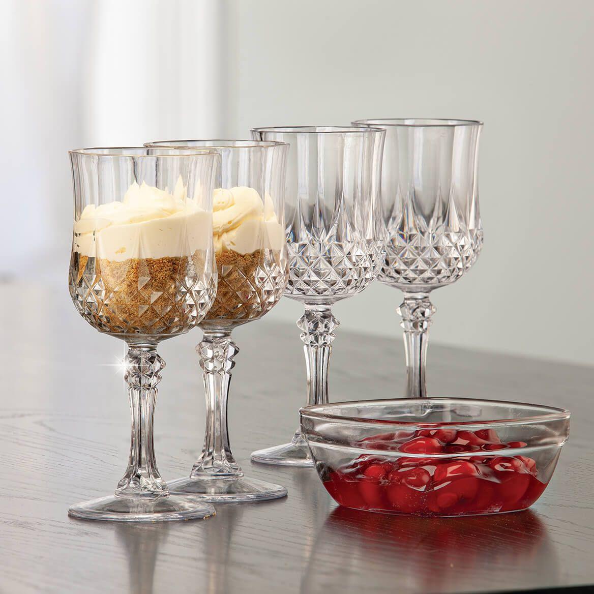 Shatter Resistant Stemmed Wine Glasses, Set of 4-372397
